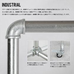 """DETAILGarmentsRack""""M""""ガーメンツラック""""M""""ガス管を使用したキャスター付きハンガーラック。(M120cm)"""
