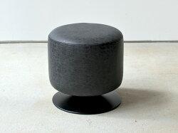 ラウンドスツール360度ブラックキャメルブラウン(PC-505BKPC-505CAPC-505BR)