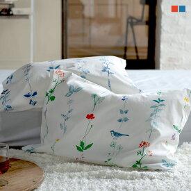 枕カバー M 43×63cm用 Florist ピローケース フロリスト マルチ ブルー まくらカバー 封筒式 森清 Fab the Home FH112181