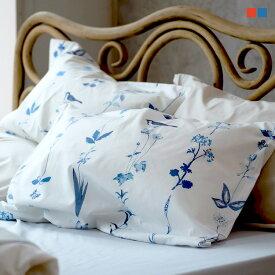 枕カバー L 50×70cm用 Florist ピローケース フロリスト マルチ ブルー まくらカバー 封筒式 森清 Fab the Home FH113181