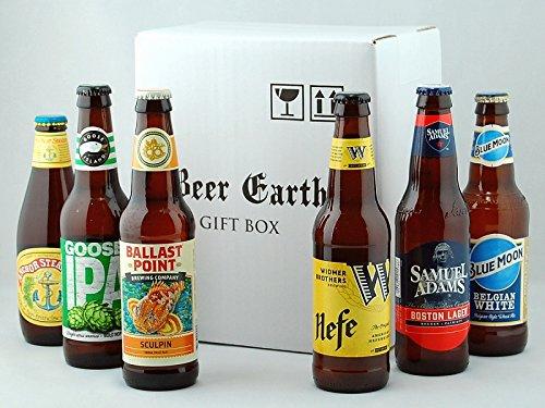 【6月17日 父の日の贈り物に】 アメリカ クラフトビール6本 飲み比べ ギフトセット 【ウィドマーブラザーズ バラストポイントスカルピン グースIPA ブルームーン】専用ギフトBOXでお届け