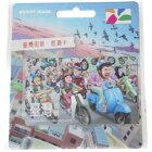 国内発送台湾悠遊カードBUDDYMAKESTUDIO台湾街景スクーターラッシュMRTIC交通EasyCardイージーカード電車バス旅行ネコポ
