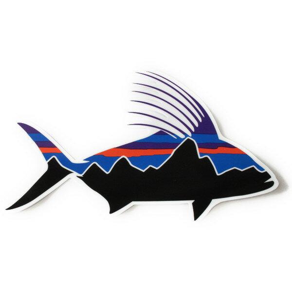 パタゴニア ステッカー フィッツロイ ルースターフィッシュ PATAGONIA FITZROY ROOSTER FISH STICKER 魚 シール デカール メール便 同梱可