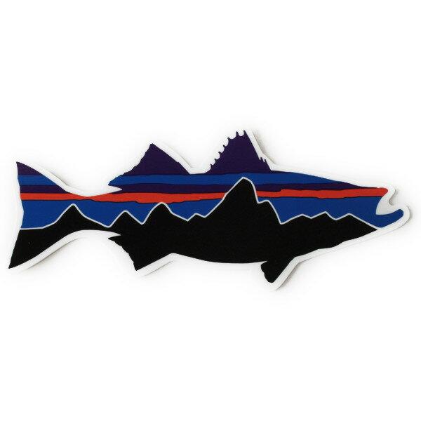 パタゴニア ステッカー フィッツロイ ストライパー PATAGONIA FITZROY シーバス スズキ 魚 フィッシュ シール デカール メール便 同梱可