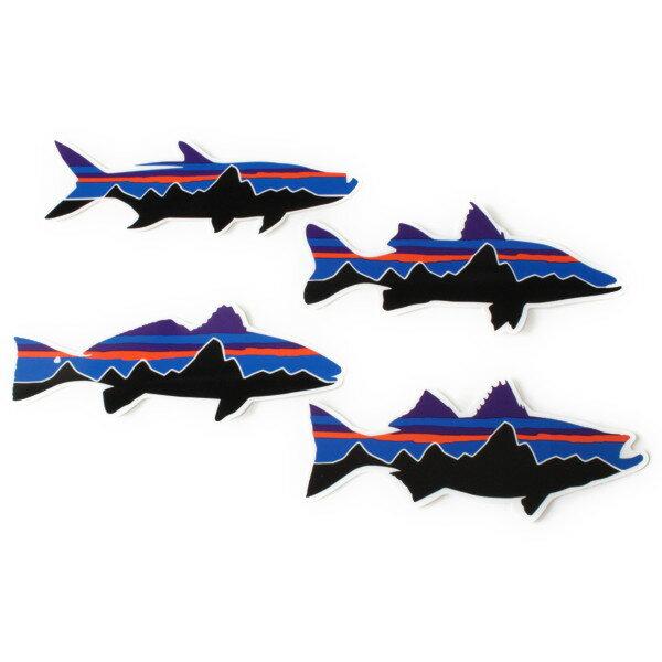 パタゴニア ステッカー フィッツロイ 4種セット ターポン スヌーク レッドドラム フィッシュ ストライパー PATAGONIA 魚 4set 4枚組 シール メール便 同梱可
