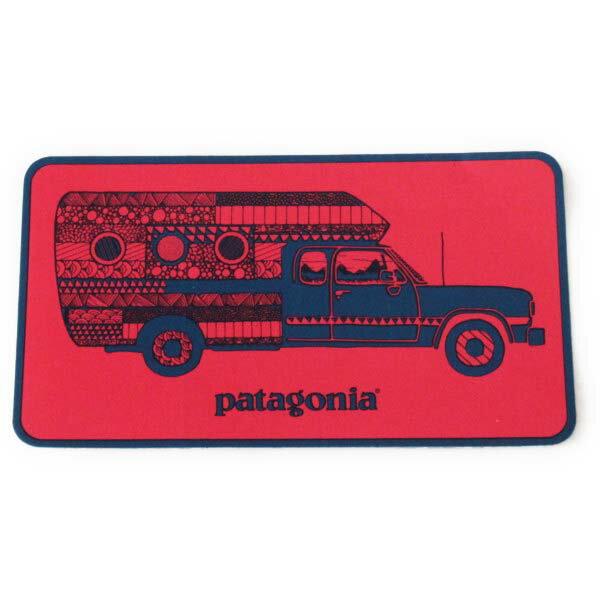 パタゴニア ウォーン ウェア トラック デリア キャンペーン ステッカー 赤 PATAGONIA Worn Wear STICKER 非売品 車 シール デカール メール便 同梱可 即納