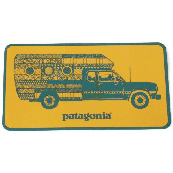 パタゴニア ウォーン ウェア トラック デリア キャンペーン ステッカー 黄色 PATAGONIA Worn Wear STICKER 非売品 車 シール デカール メール便 同梱可 即納