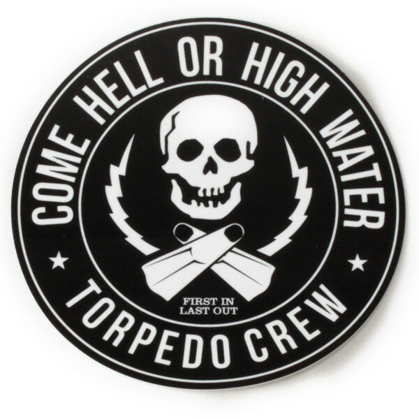 パタゴニア トーピードクルー キャンペーン ステッカー 黒 PATAGONIA TORPEDO CREW STICKER 非売品 骸骨 ガイコツ スカル シール デカール メール便 同梱可 即納