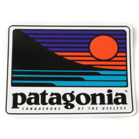 パタゴニア アップアンドアウト ステッカー PATAGONIA UP&OUT STICKER サンセット スクエア 太陽 シール デカール メール便 同梱可 新品