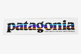 パタゴニア 廃番 テキストロゴ ステッカー グレートパシフィックアイアンワークス PATAGONIA TEXT LOGO IWGP シール ネコポス 同梱可 新品