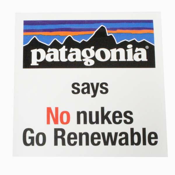 パタゴニア ノー ヌークス キャンペーン ステッカー Patagonia SAYS NO NUKES 核 原発 シール デカール 非売品 稀少 メール便 同梱可 新品