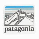 パタゴニア ライン ロゴ リッジ ステッカー 光沢 PATAGONIA LINE LOGO RIDGE スクエア 四角 シール デカール フィッツロイ 新品 ネコポス