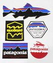 訳あり パタゴニア ステッカー 5種セット PATAGONIA STICKERS SET フィッツロイ ベンチュラ トラウト バッジ ヘックス 飛魚 シール 新品