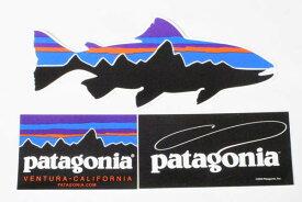 訳あり パタゴニア ステッカー 3種セット PATAGONIA STICKERS SET フィッツロイ ショップ ベンチュラ フライフィッシング トラウト シール