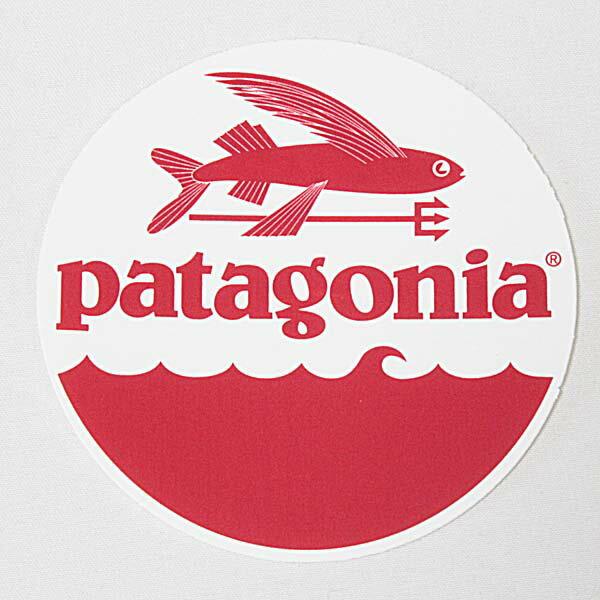 パタゴニア トライデント フィッシュ ステッカー 丸 PATAGONIA TRIDENT FISH フライング 飛魚 円 波 シール サーフ 新品 メール便 同梱可 新品