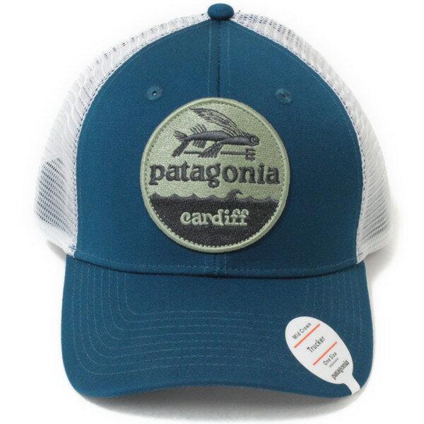 海外限定 パタゴニア ハットパッチ トラッカーハット カーディフ 限定 青系 PATAGONIA HAT PATCH TRUCKER HAT CARDIFF BSRB 帽子 メッシュ キャップ 新品