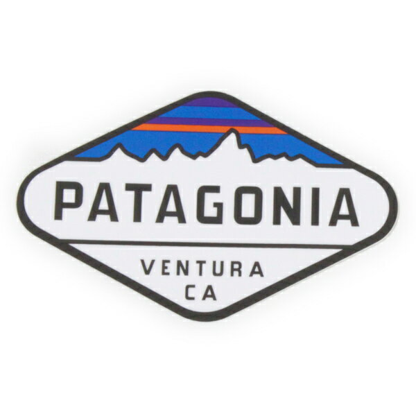 パタゴニア ステッカー フィッツロイクレスト B PATAGONIA FITZROY ベンチュラ シール ロゴ デカール カスタム デコ 新品 メール便 同梱可