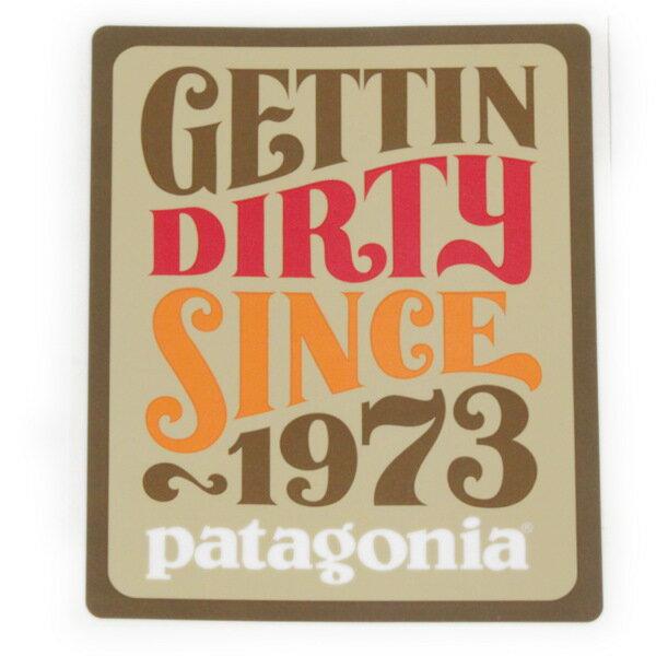 廃番 パタゴニア ステッカー ゲッティンダーティ 大 PATAGONIA GETTIN DIRTY 1973 ジェフ カンハム JEFF シール メール便 同梱可 新品