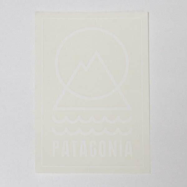 パタゴニア パタグリフ ステッカー PATAGONIA クリア 白 シール デカール 廃番 稀少 レア デコ カスタム メール便 同梱可 新品