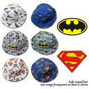 ≪最終処分価格≫ ベビー&キッズ 帽子 バットマン&スーパーマン 総柄ハット 子供雑貨 ワーナー BATMAN SUPERMAN 男の…