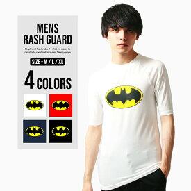 【メール便 送料無料】 NEXT WALL メンズ バットマン 半袖ラッシュガード Tシャツ「BS39-105」