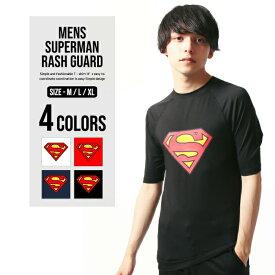 【メール便 送料無料】 NEXT WALL メンズ スーパーマン半袖ラッシュガード Tシャツ 「BS39-106」