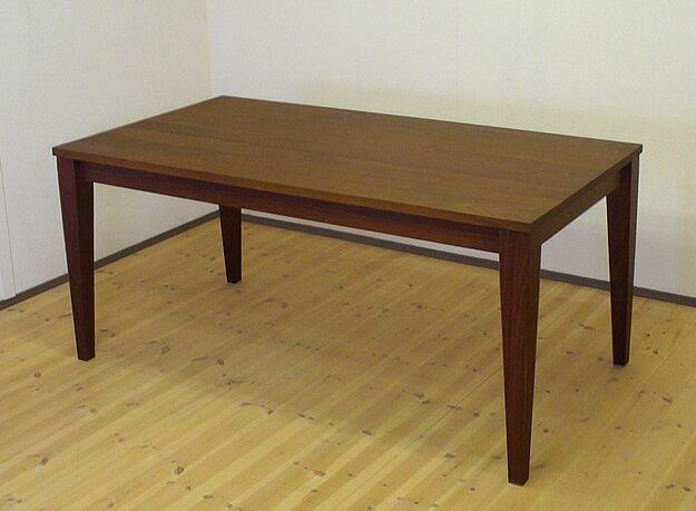 天然木ウォールナット無垢のダイニングテーブル 130cm×100cm 【送料無料】サイズ変更対応可能