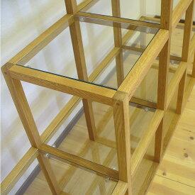 オーク材のオープンシェルフ[G-Shelf](sh01) オープンラック フリーラック 飾り棚 ウッドラック フリーボード オープンボード ギャラリー リビングシェルフ 高級 北欧 無垢 モダン 什器 ブティック 展示 オイルフィニッシュ