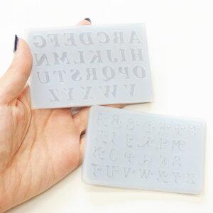 アルファベット シリコンモールド 全2種 《 シリコン型 シリコン製 レジン型 レジン UVレジン レジン液 3D クラフト 型 モチーフ 枠 手芸 ハンドメイド 手作り 》