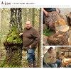 從北歐橡樹的樹的按鈕6個安排《北歐天然木天然材料木材按鈕愛沙尼亞橡樹天然記號工匠手製手傭人》