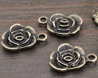 Charm roses 5 piece antique gold, antique gold