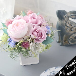 ニーナプリザーブドフラワーお祝いフラワーギフト結婚記念日フェミニンブリザードフラワ−花ギフト誕生日結婚祝新築祝