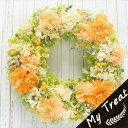 プリザーブドフラワー リース 壁掛け お祝い フラワーギフト 結婚記念日 ジュース ギフト プリザードフラワー ブリザードフラワ− 花 …