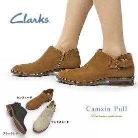 クラークス ブーツ レディース 477G カムジンプール 本革 バックル レザー Clarks Camzin Pull ショートレザーブーツ
