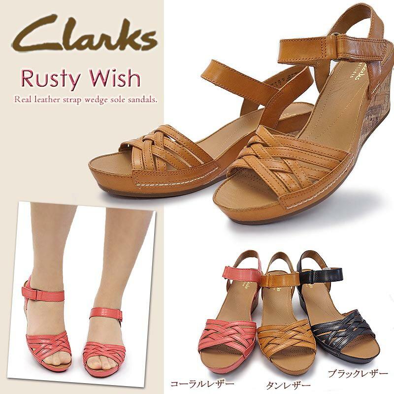 クラークス レディース 本革サンダル ラスティーウィッシュ 630F レザー メッシュ Clarks Rusty Wish