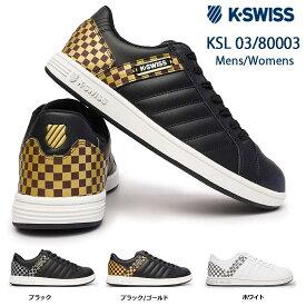 ケースイス スニーカー KSL 03 コートモデル メンズ レディース Kスイス 80003 チェッカー柄 K・SWISS Kスイス 36800030 36800031 36800037 36100200