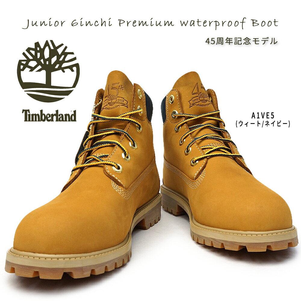 ティンバーランド ブーツ レディース ジュニア シックスインチ プレミアム ウォータープルーフブーツ ショートブーツ 防水 アウトドア Timberland Junior 6inch Premium Waterproof boots TB0A1VE5 W/NVY