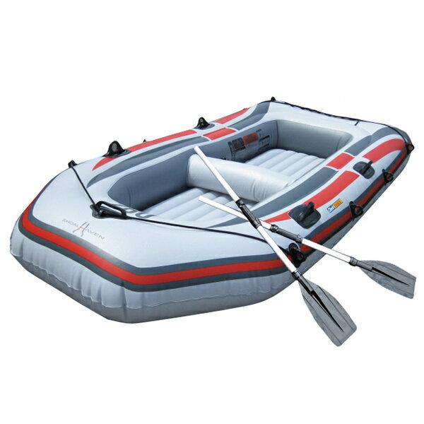 ゴムボート 3気室 構造 4人乗りゴムボート 海水浴 釣り オール2本セット236