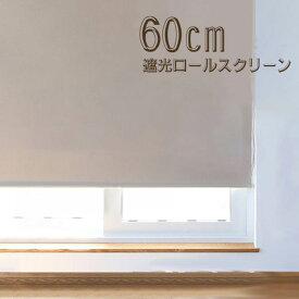 ロールスクリーン ロールカーテン ロールブラインド 幅60cm 遮光率99.99% スクリーンRK60