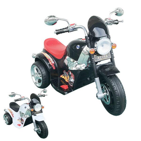 三輪車 電動 乗用バイク アメリカン 子供 対象年齢 3歳 4歳 5歳 6歳 7歳 8歳 おもちゃ 知育玩具 乗用玩具 バイク ライト点灯 クラクション付き 黒 白 ブラック ホワイト 乗用バイクTR1508A クリスマスプレゼント 特集2