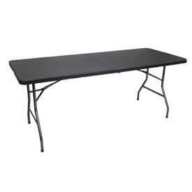 アウトドアテーブル ラタン調 ガーデンテーブル 折り畳み式 頑丈 大型 180cm 防水 長テーブル テーブルYS-R180