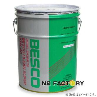 기본! □ 순정 엔진 오일 BESCO/ベスコ 스크린 슈퍼 10W40 (DH-2 클래스) 20L 캔