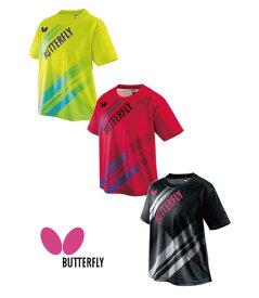 卓球 バタフライ Butterfly ウエア 45490 ラスネル・Tシャツ ウエア 卓球 ユニホーム Tシャツ 【ネコポス便 送料無料】かっこいい タマス プレゼント ラッピング無料 ラッピング無料【キャッシュレス5%還元】