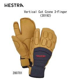 スキー:HESTRA ヘストラ Vertical Cut Czone 3-Finger バーティカル カット シーゾーン スリーフィンガー 〈30192〉/暖かい/あったかい/防寒/スキー/スノボ/スノーボード/レース/デモ/技術【#お買い物マラソン16日1:59迄】
