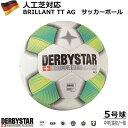 サッカーDERBYSTAR 5号球 Brillant TT AG WHT Nr.1276500158 ダービースター サッカーボール IMS国際規格 育成 中学生…
