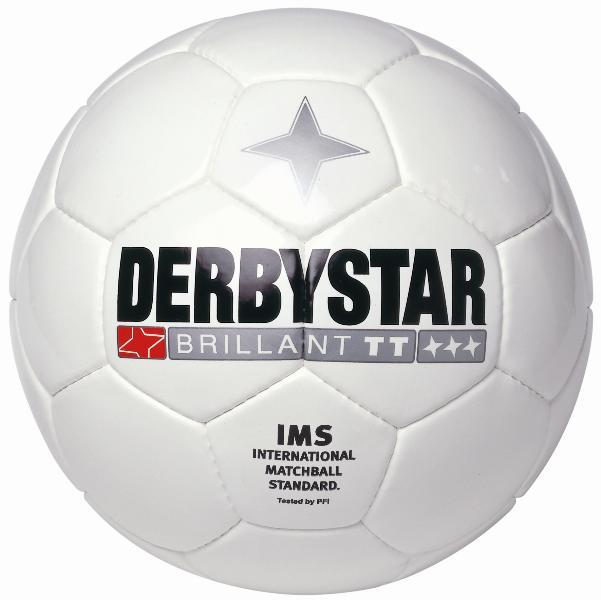 サッカー:ダービースター サッカーボール 5号球「DERBYSTAR」 BRILLANT TT WHITE Nr.1181-05