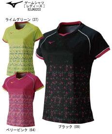 卓球:ミズノ MIZUNO 卓球ウエア ゲームシャツ(ウィメンズ) 82JA8203【卓球ユニフォーム/ユニフォーム/卓球用品/卓球シャツ】【ネコポス便送料無料】【キャッシュレス5%還元】