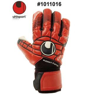 축구:워르슈포르트 「uhlsport」골키퍼 글로브 엘리미네이터 하프 네가티브 소프트 서포트 프레임 플러스#1011016
