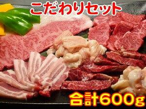 お歳暮 御歳暮 ギフト プレゼント 誕生日 2020 牛肉 こだわりセット 特上ロース100g ハラミ100g カルビ100g ホルモン100g 大腸100g 豚バラ100g 焼肉 バーベキュー