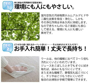 4.5帖ウールカーペット江戸間4.5畳は赤ちゃんも安心カーペット。ホルムアルデヒドも吸収浄化!/カーペット4.5畳は丈夫でしっかり。掃除もしやすいカーペット